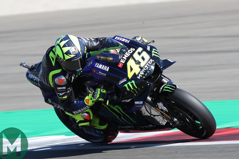 Valentino Rossi on track at the 2019 MotoGP Dutch TT
