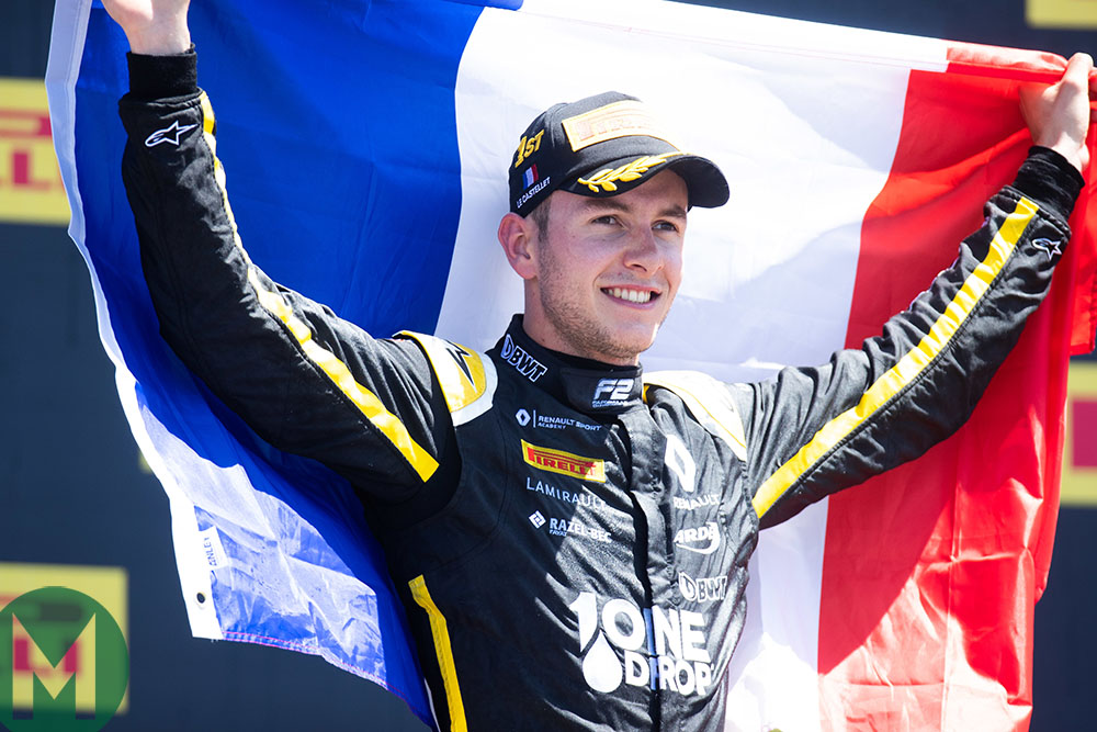 Anthoine Hubert after winning the F2 Race 2 in 2019 at Paul Ricard