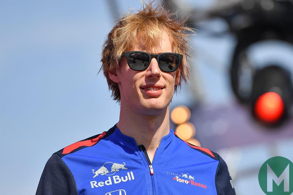 Brendon Hartley at the 2018 Abu Dhabi Grand Prix