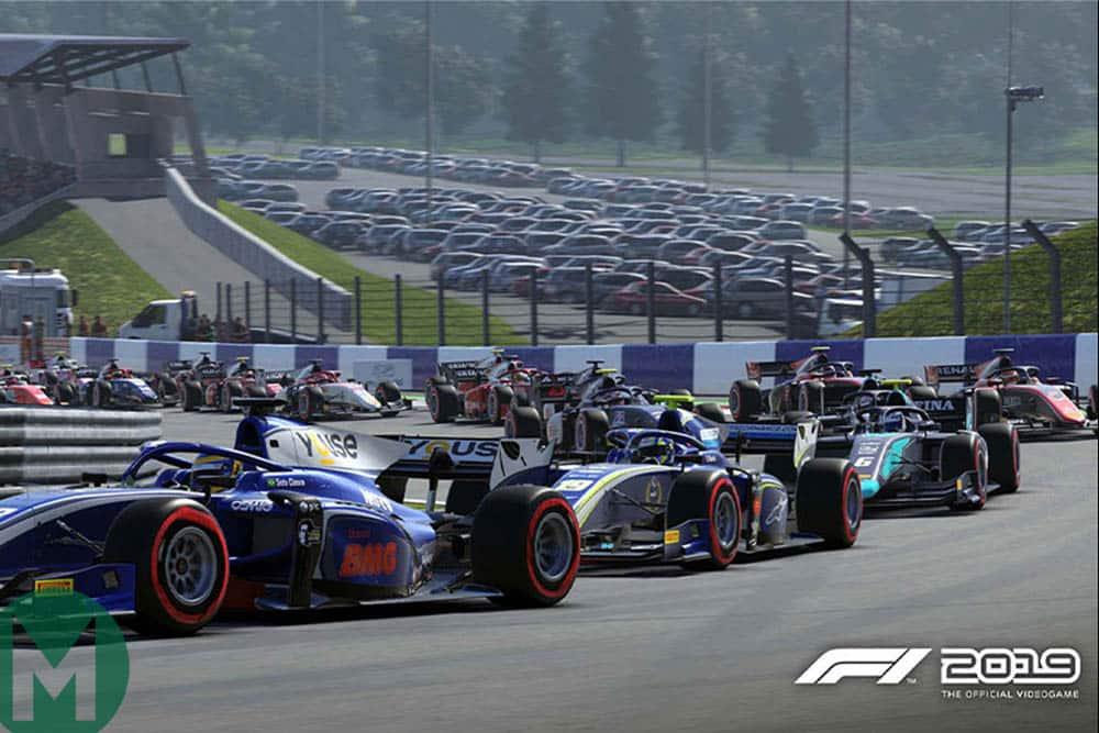 F2 cars in F1 2019 game