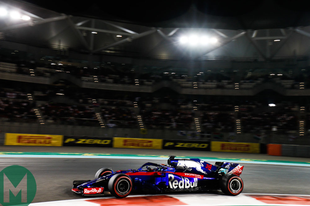 Brendon Hartley at the 2018 Formula 1 Abu Dhabi Grand Prix