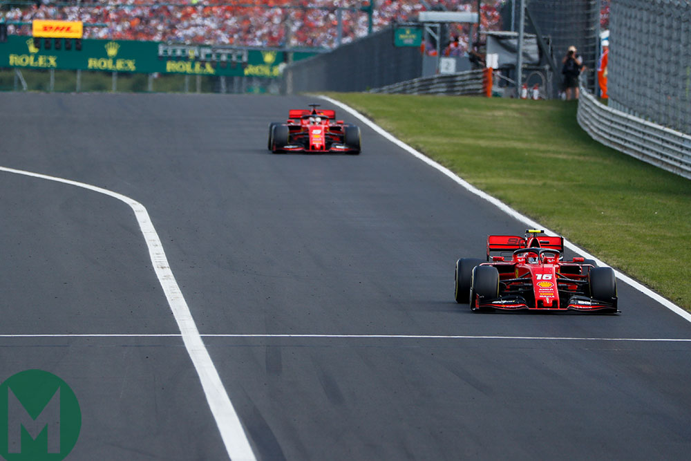 The Ferraris were unable to keep up with the leading pair