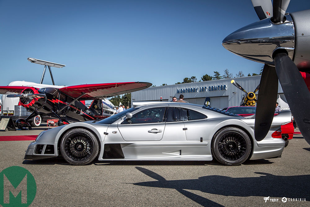 A Mercedes CLK-GTR at McCall's Motorworks Revival