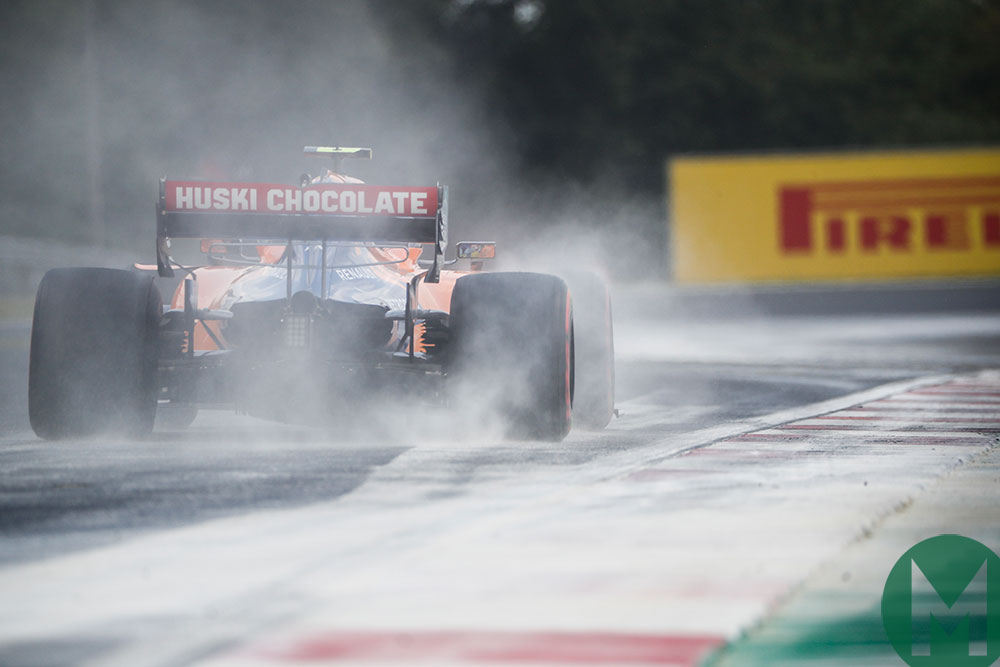 Lando Norris revelled in the McLaren's balance on Saturday