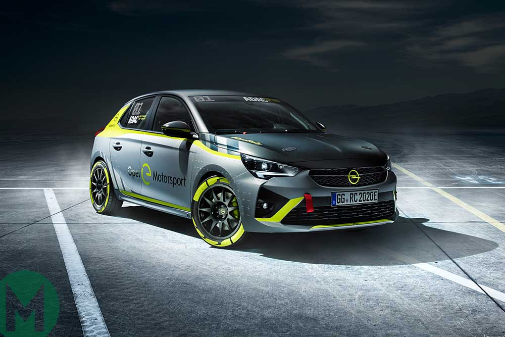 The Corsa-e Rally car is the first all-electric rally car