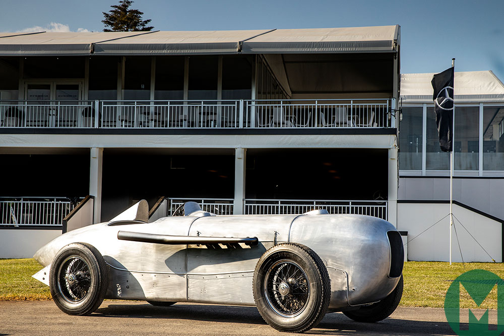 A reconstructed 1932 Mercedes-Benz SSKL streamlined racing car will be driven on public road for the first time