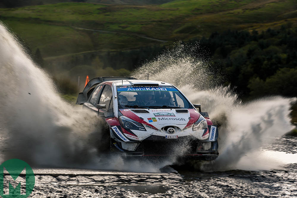Jari-Matti Latvala at the 2018 Rally Great Britain
