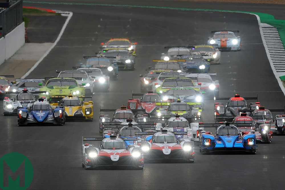 The start of the 2018 Silverstone World Endurance Championship race