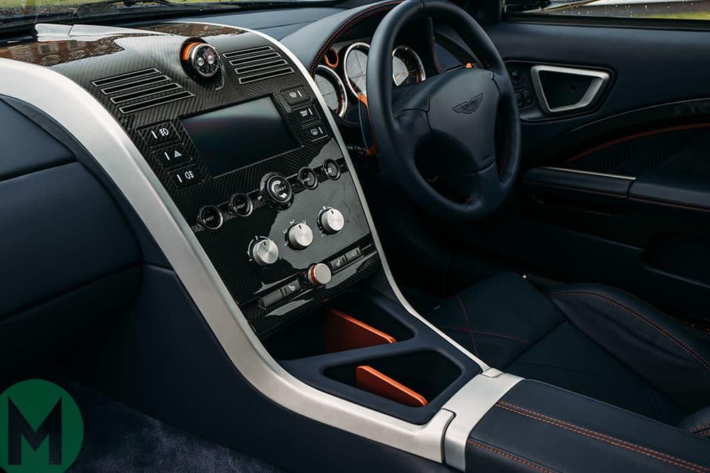 The interior of the Aston Martin Vanquish 25