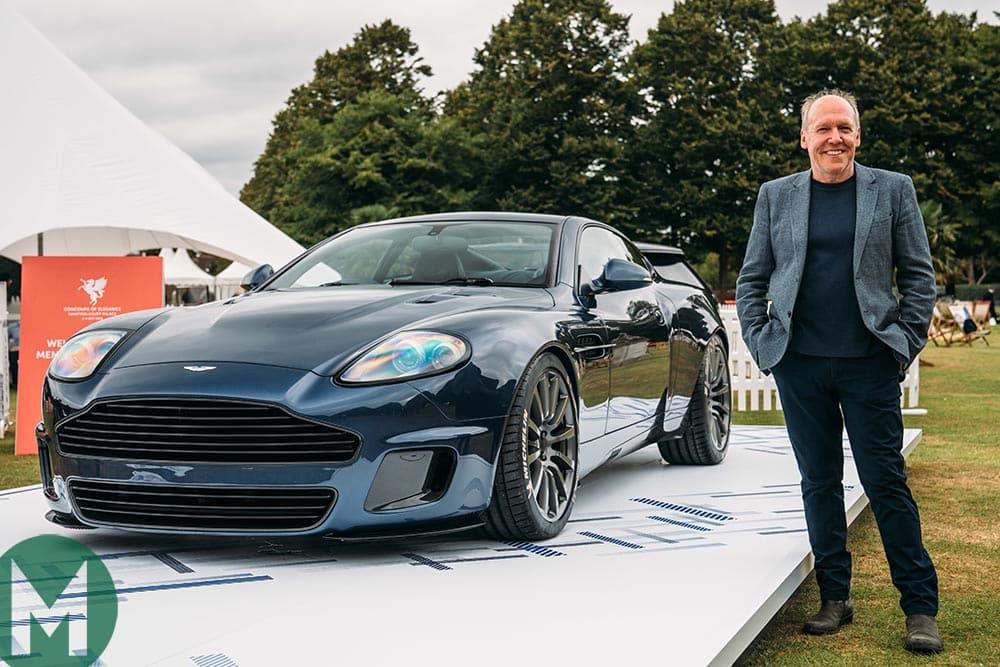 Ian Callum standing next to the Aston Martin Vanquish 25