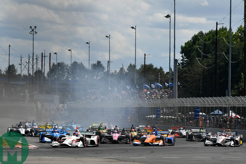 The start of the 2019 IndyCar Grand Prix of Portland