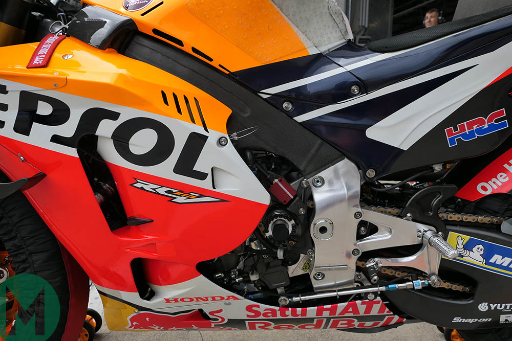 Marc Márquez's RC213V at the 2019 MotoGP race at the Red Bull Ring