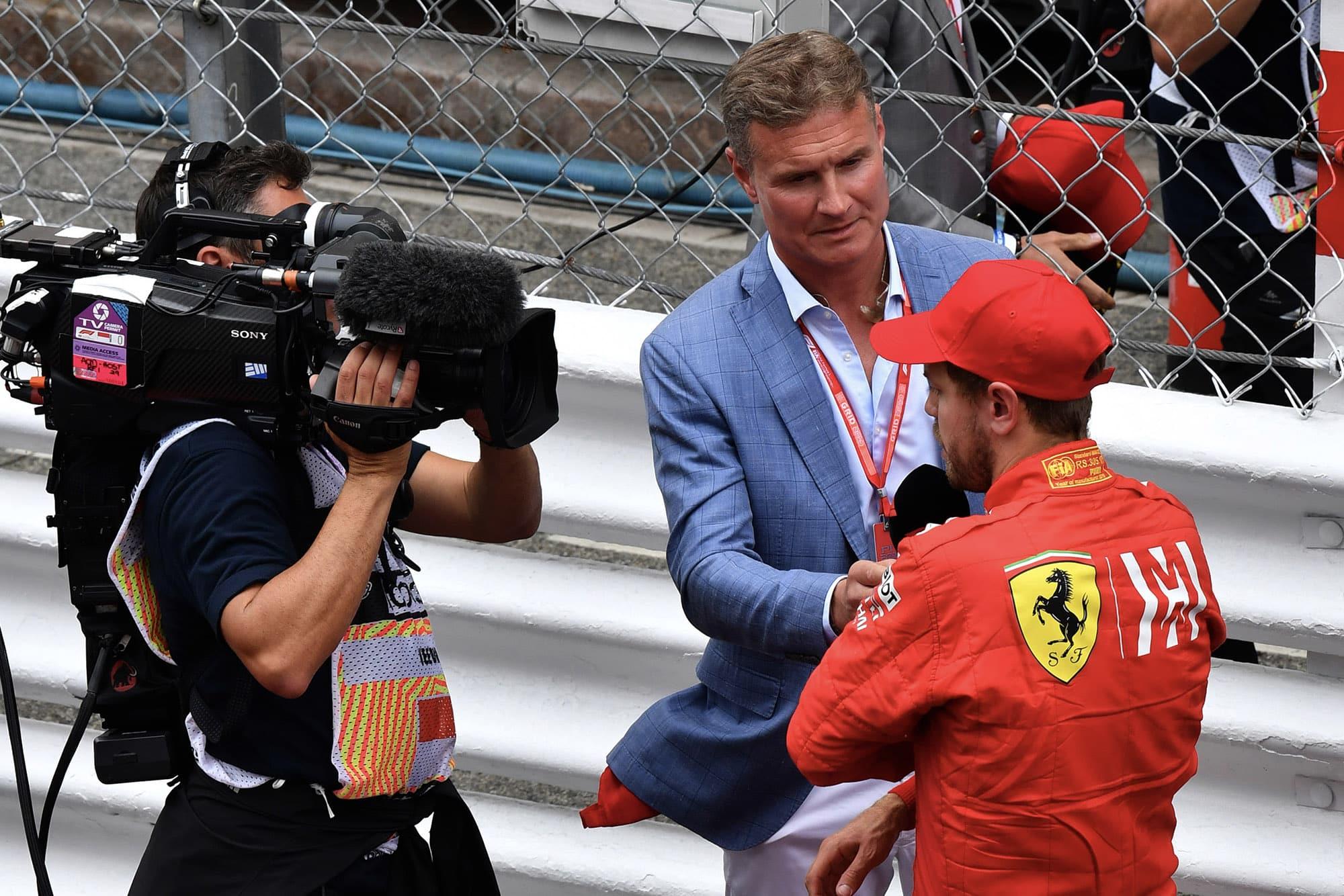 David Coulthard interviews Sebastian Vettel at the 2019 Monaco Grand Prix
