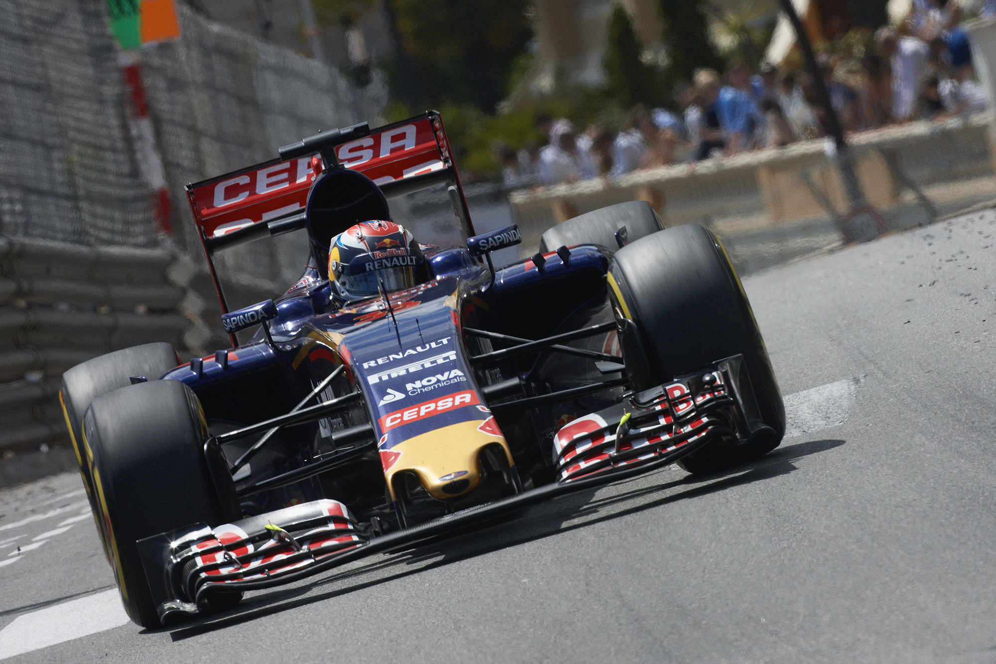 Max Verstappen behind the wheel of his Toro Rosso in 2015