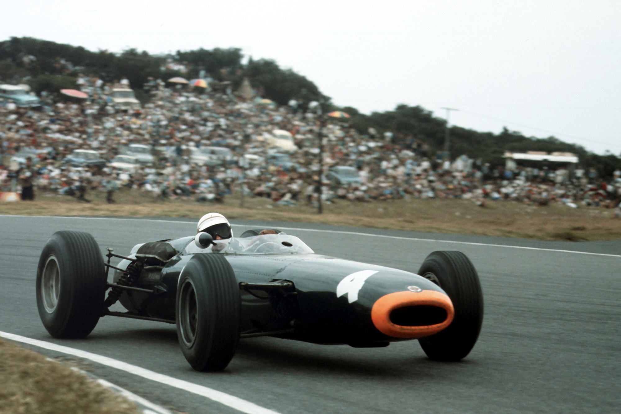 Jackie Stewart racing at East London on New Year's Day 1965